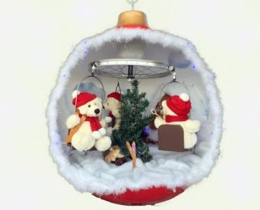 3 ours dans une boule de Noël   ATB Création
